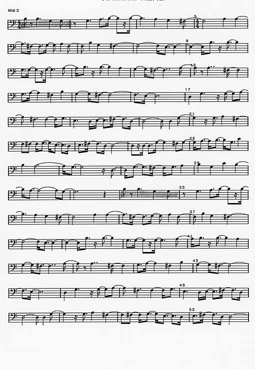 National Song; example of score