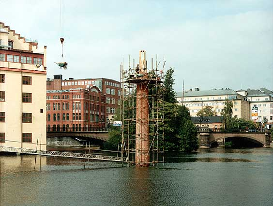 Jan Svenungsson – Building The Fifth Chimney - Norrköping, 1999